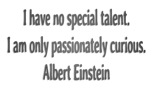 Quotes about Learning--Einstein curious 2