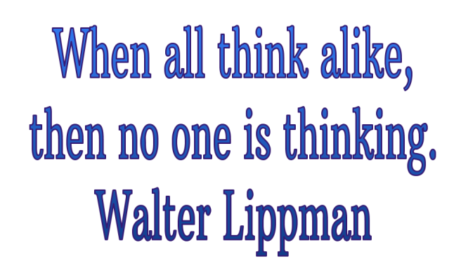 Creativity think alike Lippman