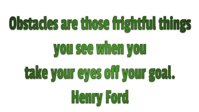 Henry Ford quote about staying focused on your goal