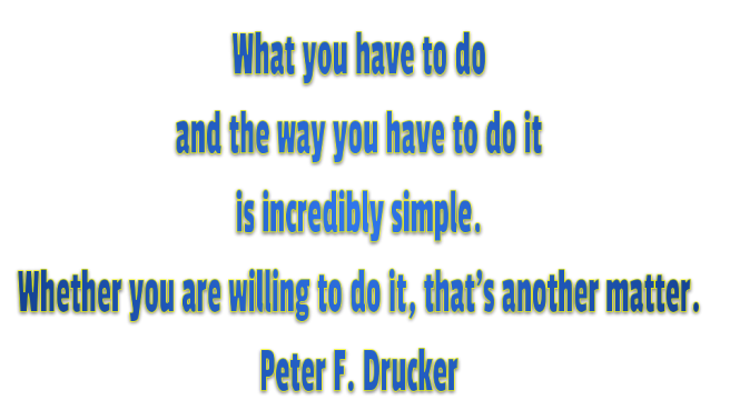 Determination willing Drucker