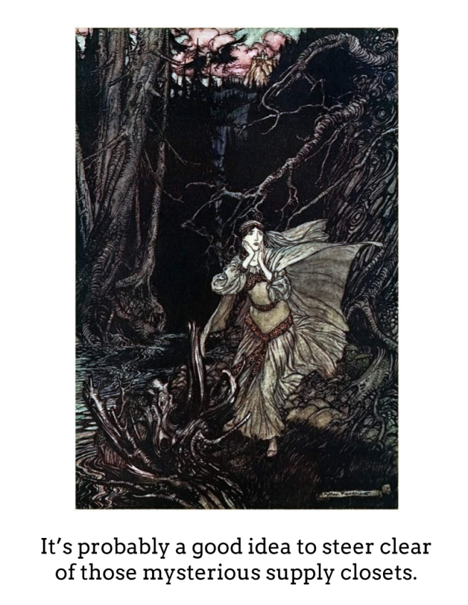 girl in scary dark ravine