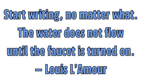 writing start writing Lamour