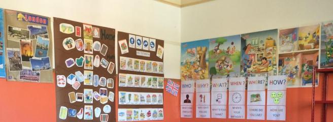 classroom walls decorated
