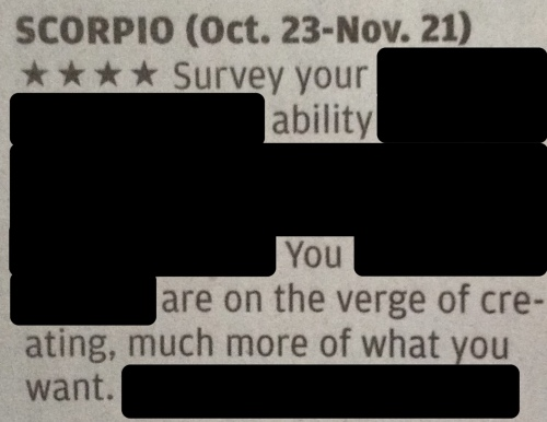 horoscope scorpio survey ability