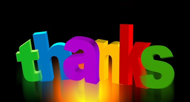 thank you sign in multicolored letters
