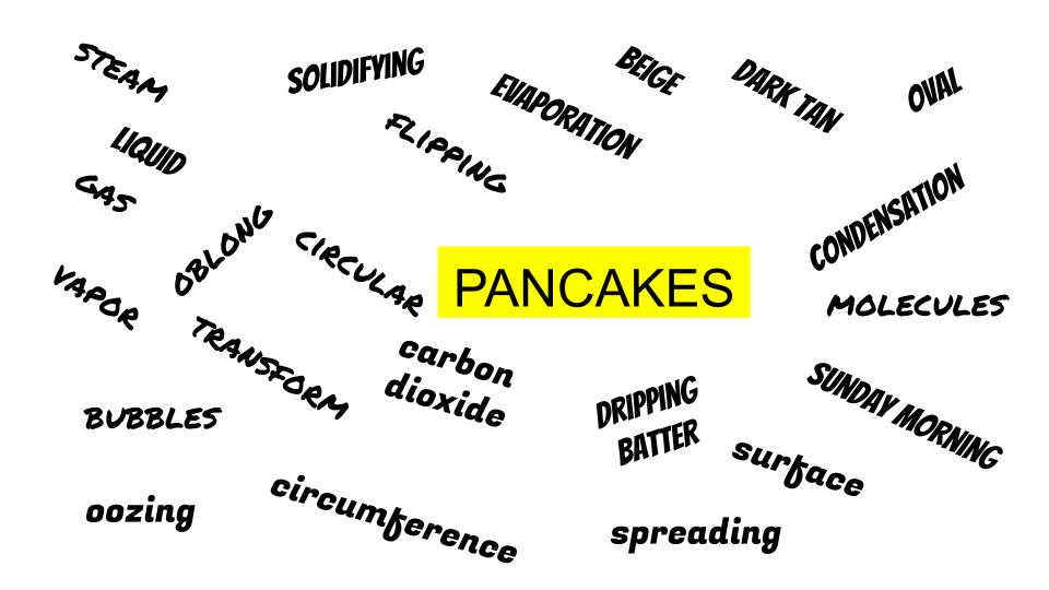 pancake word bank