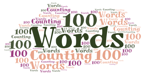 word cloud with 100 words counting