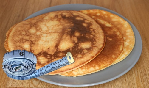 pancake with measuring tape 2