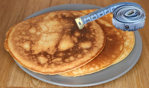 pancake-with measuring tape