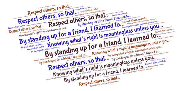 bullying prompts word cloud