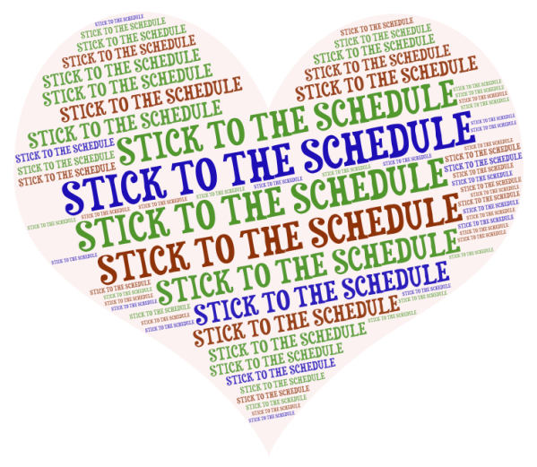 STICK TO THE SCHEDULE WORD CLOUD
